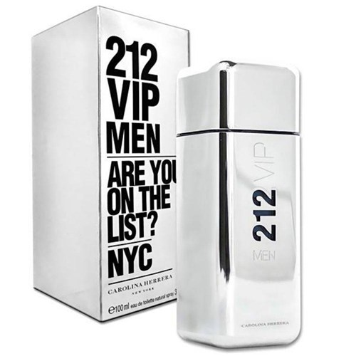 Perfume Carolina Herrera 212 Vip Men Eau de Toilette Masculino 100 Ml