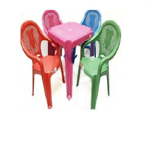 Conjunto Mesa 4 Cadeiras Poltrona Infantil Colorida Antares