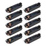 10 Toner Compatível Hp Ce285a 285 - P1102 M1212 M1132 M1136 1102w - Compatível - 1,6k
