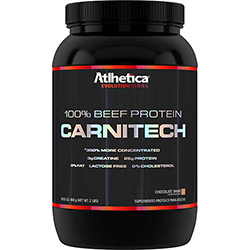 100 % Beef Protein Carnitech - Evolution Séries - Suplemento Alimentar Chocolate -900g - Atlhetica