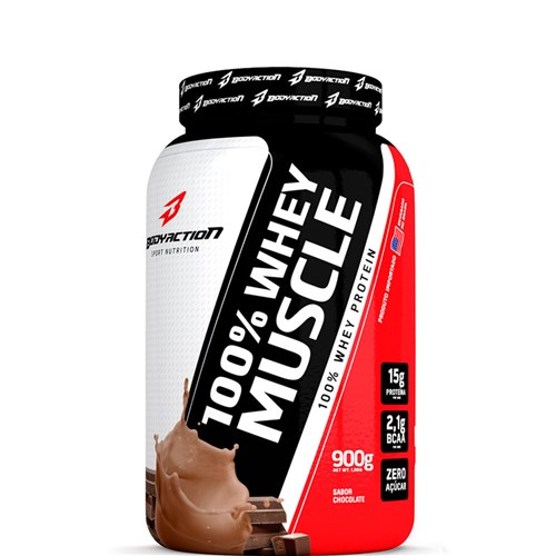 100% Whey Muscle (900G) - Body Action Chocolate