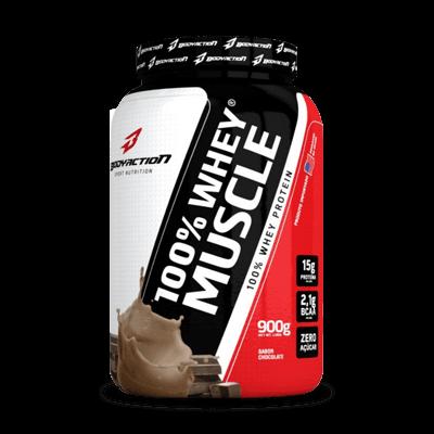 100% Whey Muscle 900G - Bodyaction (CHOCOLATE)