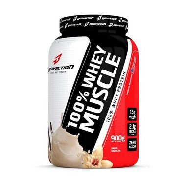 100 Whey Muscle 900gr Body Action Baunilha