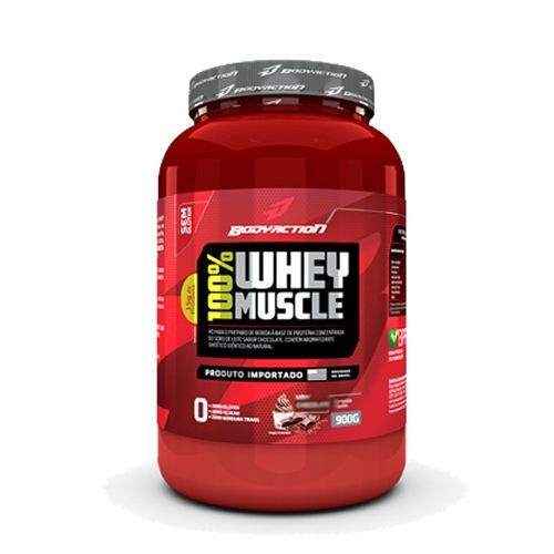 100 Whey Muscle - Chocolate 900g - BodyAction