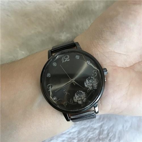 #10902 - Relógio Pulseira Silicone - Preta
