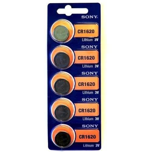Tudo sobre '5 Baterias Pilha Sony Cr 1620 Bateria Original Relógio'