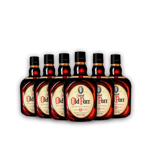 6x Whisky Grand Old Parr 12 Anos 1l