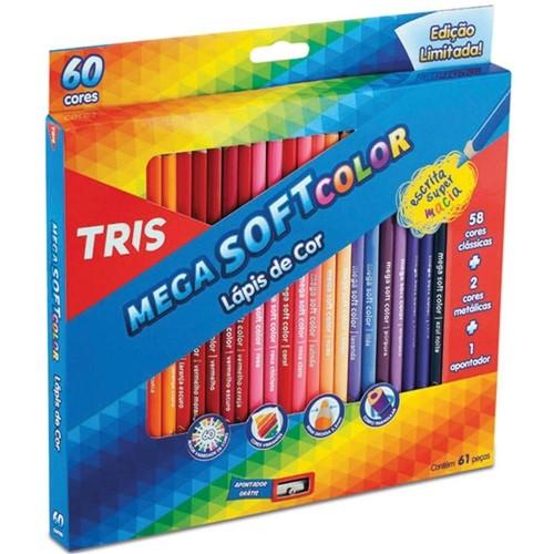 Lápis de Cor Tris Megasoft 60 Cores-Summit