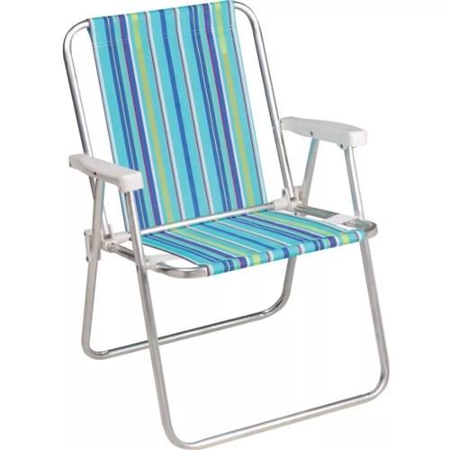 Cadeira Alta Alumínio 2101 - Mor