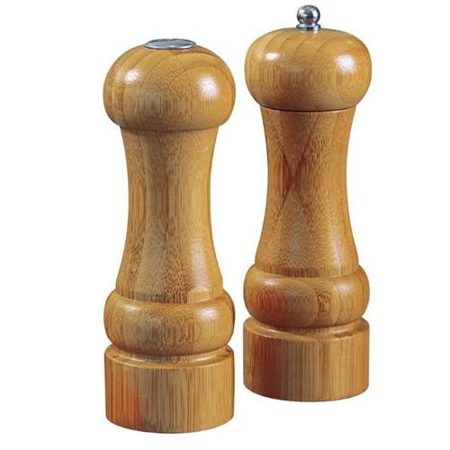 Tudo sobre 'Jogo de Moedor de Pimenta e Saleiro Bamboo 8449-Mor'