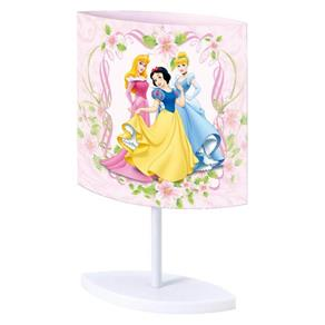Abajur Princesas Disney Startec 20,5cm X 9cm X 32cm - Rosa - BIVOLT