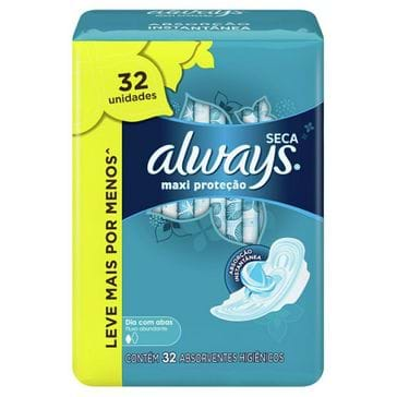Absorvente Always Active com Abas Seca Leve 32 Pague 28