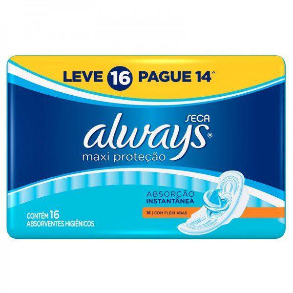 Absorvente Always Active Seca com Abas Leve 16 Pague 14