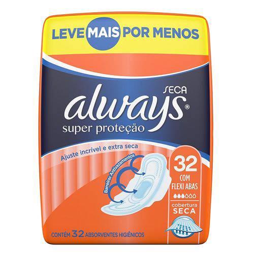 Absorvente Always Básico Pacotão Cobertura Seca Leve + por -