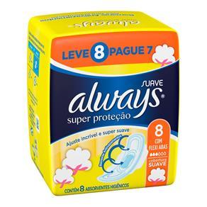 Absorvente Always Super Proteção Suave com Abas