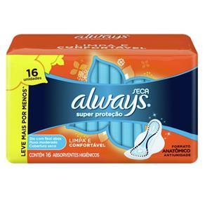 Absorvente com Abas Always C/16 Super Proteção Seca