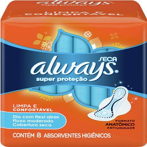 Absorvente com Abas Always C/8 Super Proteção Seca