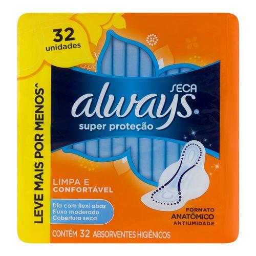 Absorvente com Abas Always Super Prot 32un-pc Seca ABS C/AB ALWAYS SUPER PROT 32UN-PC SECA