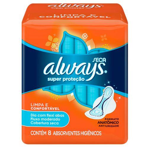 Absorvente Sem Abas Always C/8 Super Proteção Seca