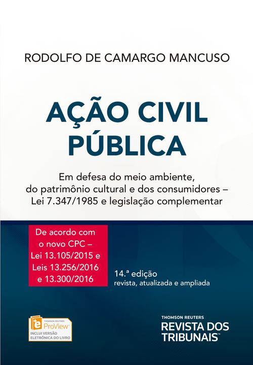 Tudo sobre 'Ação Civil Pública - 14ª Edição'