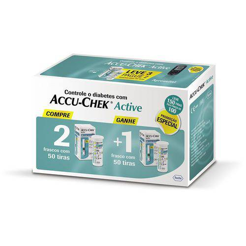Tudo sobre 'Accu Chek Active Roche com 150 Tiras'