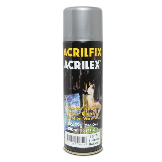 Acrilfix Verniz Spray Fixador Brilhante Acrilex 205.79g / 300ml