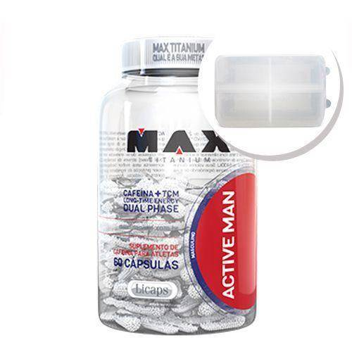 Active Man - 60 Capsulas + Porta Cápsulas Transparente - Max Titanium