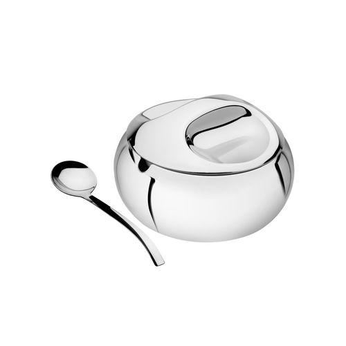 Açucareiro com Colher Aço Inox Chá e Café 9,1cm Tramontina
