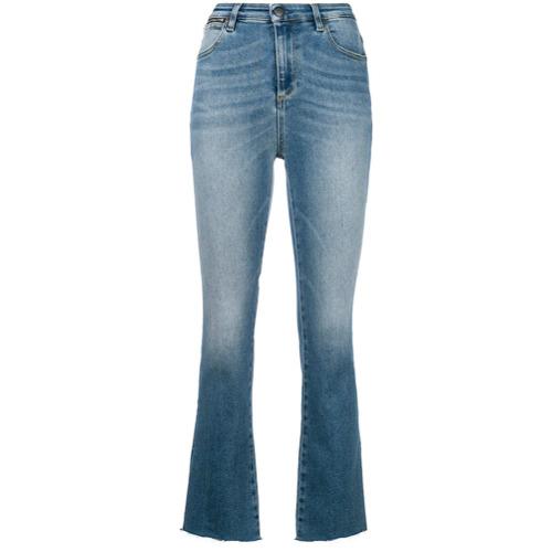 Acynetic Calça Jeans Flare Cropped - Azul