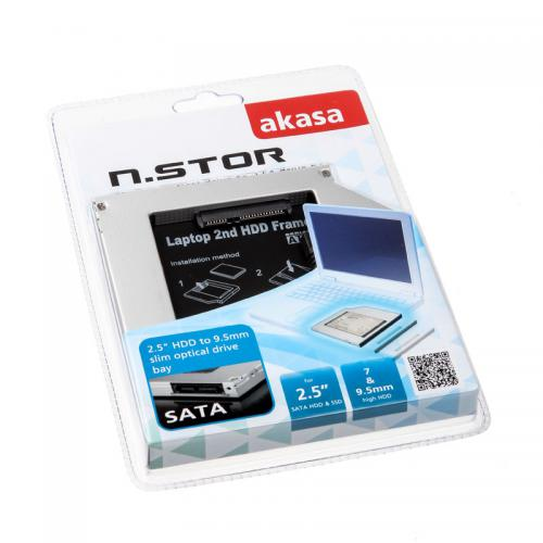 Tudo sobre 'Adaptador AKASA N.Stor S9 para HD 2.5 SATA HDD & SSD, 7mm e 9.5mm - AK-OA2SSA-03 1669 1669'