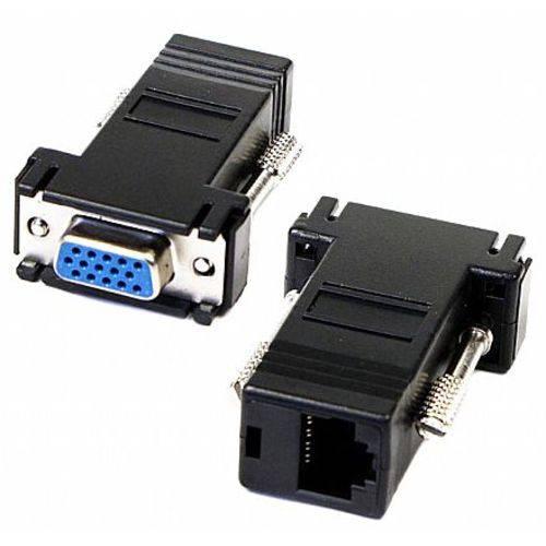 Adaptador Conversor VGA para RJ45