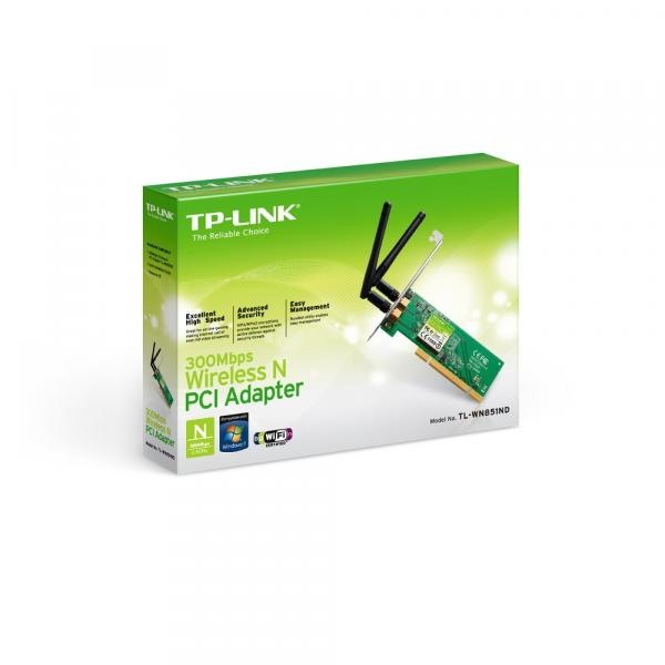 Adaptador PCI TP-Link Wireless N 300Mbps TL-WN851ND
