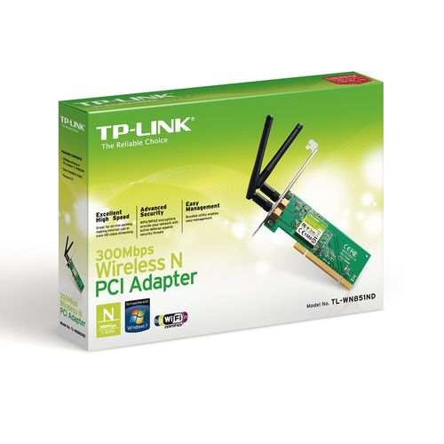 Adaptador Pci Wireless N 300mbps Tl-wn851nd Tp-link