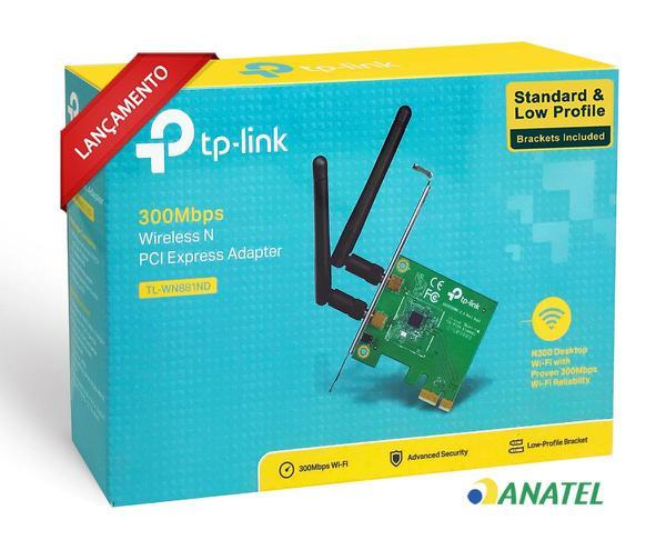 Adaptador PCI Wireless TP-Link TL-WN881ND