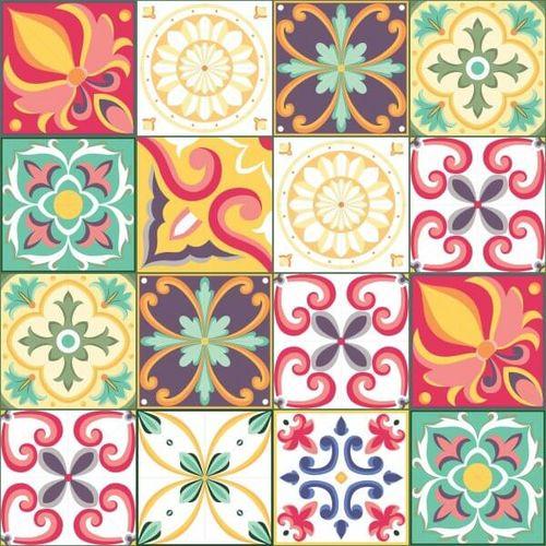 Adesivo de Azulejo Carmesim 10x10 Cm com 50un