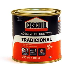 Adesivo de Contato Cascola Tradicional 230 Ml / 195 Gr