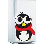 Adesivo de Geladeira Pinguim Agasalhado