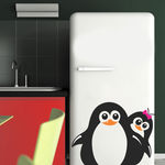 Adesivo de Geladeira Pinguim Casal Sorrindo
