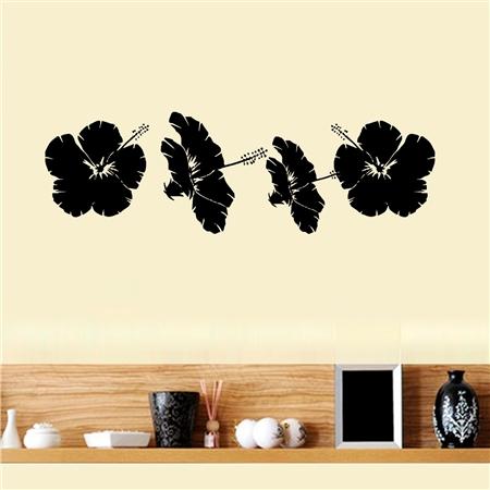 Adesivo de Parede 4 Flores