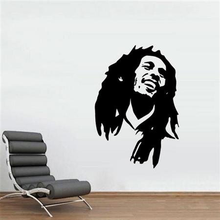 Tudo sobre 'Adesivo de Parede Bob Marley'
