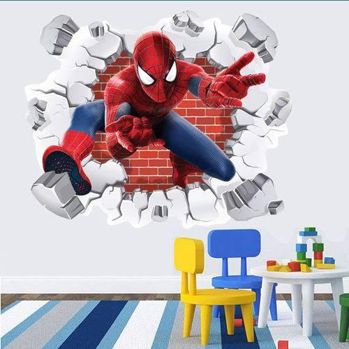 Tudo sobre 'Adesivo de Parede Buraco Falso Homem Aranha 3D'
