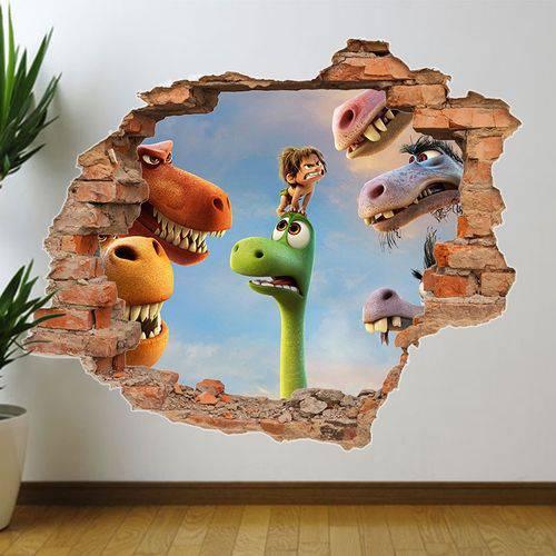 Tudo sobre 'Adesivo de Parede Buraco Falso o Bom Dinossauro 2'