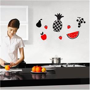 Adesivo de Parede - Cozinha - Frutas - Azul Marinho