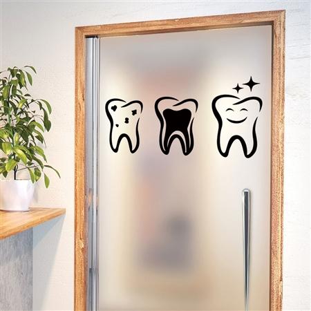 Adesivo de Parede 3 Dentes