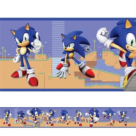Adesivo de Parede Faixa Sonic 2