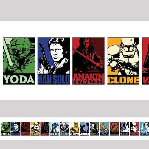 Tudo sobre 'Adesivo de Parede Faixa Star Wars Branca'