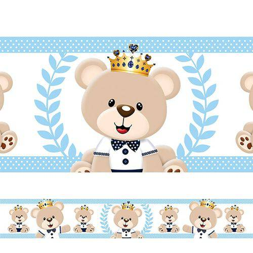 Tudo sobre 'Adesivo de Parede Faixa Urso Príncipe 5'