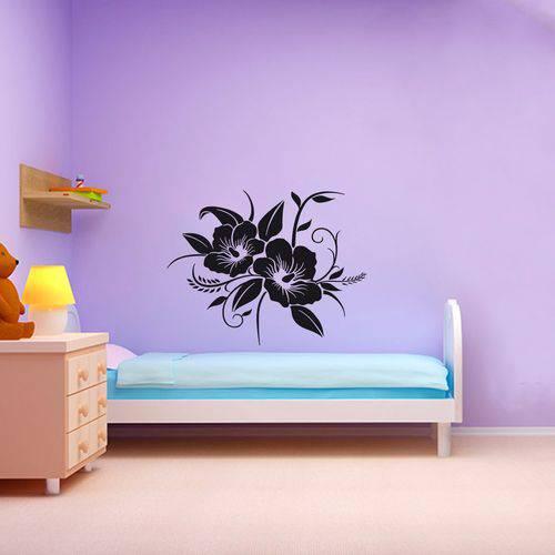 Adesivo de Parede Flor Orquídeas - Pequeno 48x38cm