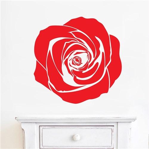 Adesivo de Parede Flor Rosa - Médio 48X48cm