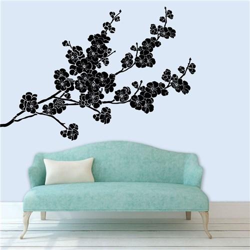 Adesivo de Parede Florais Sakura - Médio 85X58cm